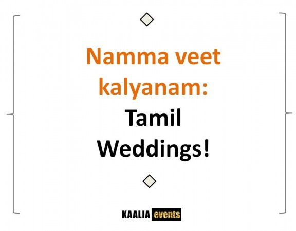 Tamil wedding planners in Bangalore by kaalia events