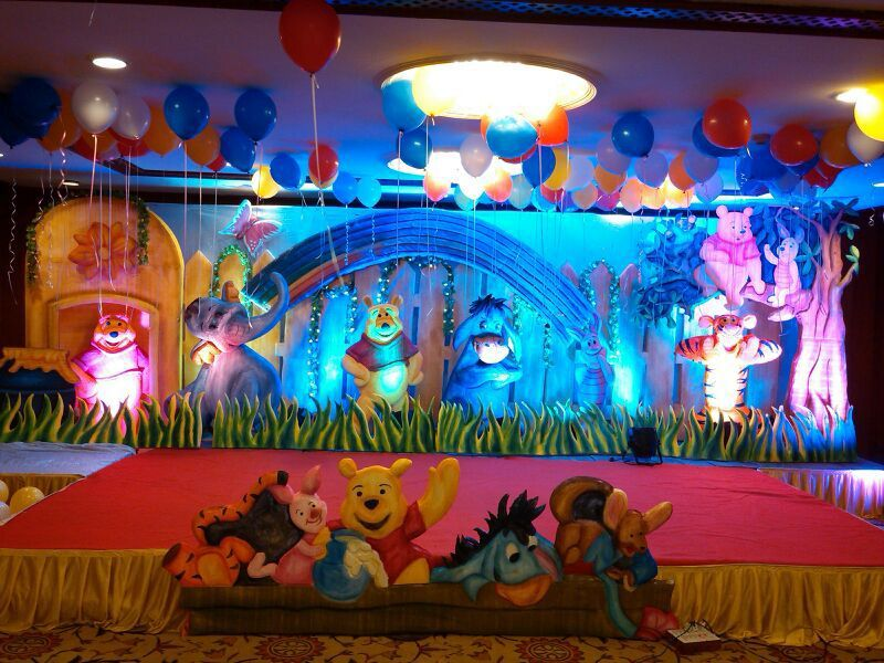 Best birthday decorations, balloon decorations in ... |First Birthday Stage Decoration Ideas